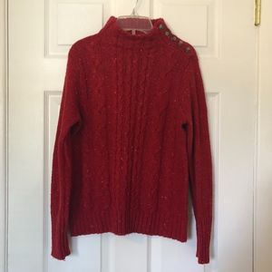 St. Johns Bay Red Sweater Size M